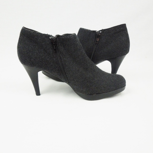 Candies Gray Ankle Boots